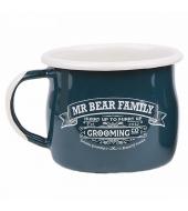 Mr Bear Family Enamel Mug