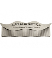 Mr Bear Family Moustache steel comb
