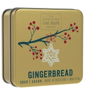 Scottish Fine Soaps Christmas soap in a tin Gingerbread 100g