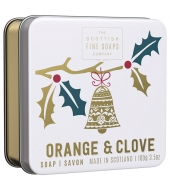 Scottish Fine Soaps Christmas soap in a tin Orange & Clove 100g