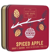 Scottish Fine Soaps Christmas soap in a tin Spiced Apple 100g