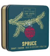 Scottish Fine Soaps Christmas soap in a tin Spurce 100g