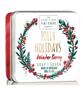 Scottish Fine Soaps Soap in a tin Jolly Holidays 100g