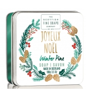Scottish Fine Soaps Soap in a tin Joyeux Noel 100g