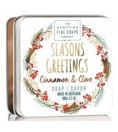 Scottish Fine Soaps Soap in a tin Seasons Greetings 100g