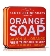 Scottish Fine Soaps Soap in a tin Orange 100g