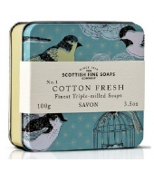 Scottish Fine Soaps Soap in a tin Cotton Fresh 100g
