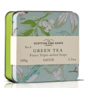 Scottish Fine Soaps Soap in a tin Green Tea 100g