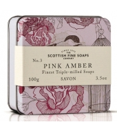 Scottish Fine Soaps Soap in a tin Pink Amber 100g
