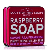 Scottish Fine Soaps Soap in a tin Rasberry 100g