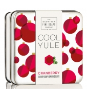 Scottish Fine Soaps Soap in a tin Cranberry 100g