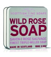 Scottish Fine Soaps Soap in a tin Wild Rose 100g