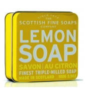 Scottish Fine Soaps Soap in a tin Lemon 100g