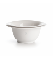 Mühle Shaving bowl porcelain white, with platinum rim