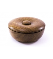 Vulfix Small Wooden Soap Bowl with shaving soap