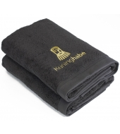 Kuninghabe Bath towel Grey